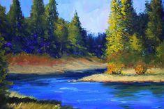 Oregon River Landscape Painting by Nancy Merkle; Original and Fine Art Reproductions