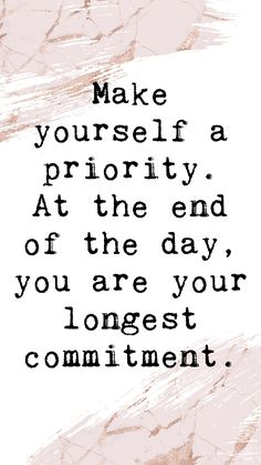 Make your self & your health a priority! Uplifting Quotes, Meaningful Quotes, Positive Quotes, Motivational Quotes, Inspirational Quotes, Self Love Quotes, Cute Quotes, Quotes To Live By, Best Quotes