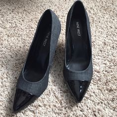Nine West pumps Worn once as you can see on bottom of the shoes. Otherwise, great condition. Nine West Shoes