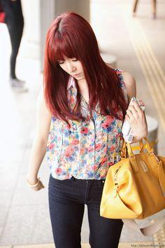SNSD Tiffany - airport fashion | Tumblr