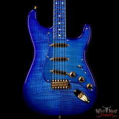 Fender Custom Shop Masterbuilt Yuriy Shishkov 1956 Stratocaster NOS Flame Top Birdseye Nk Royal Blue