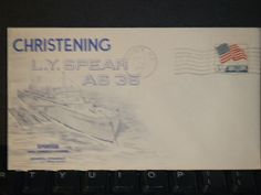 USS L. Y. SPEAR AS-36 Naval Cover 1967 LAUNCH Cachet QUINCY, MA