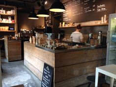 Very small, but cozy coffee shop in Prenzlauer Berg. The coffee is outstanding and the staff is really friendly.