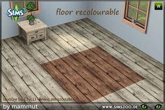 Blackys Sims 2 & Sims 3 Zoo - Wooden floor by mammut, fully recolourable.   ...