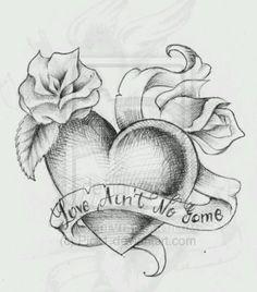 Heart Tattoo Design by on DeviantArt www. - - Heart Tattoo Design by on DeviantArt www. Pencil Art Drawings, Love Drawings, Art Drawings Sketches, Tattoo Sketches, Drawings Of Hearts, Heart Drawings, Dog Tattoos, Body Art Tattoos, Arte Black