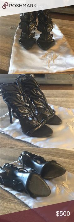 8f25a26cc8b56 Giuseppe Zanotti Coline wings size 39 Only worn once. Will be shipped with  bag.