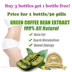 (1 Unidades = 3 botellas) se extrae de pérdida de peso de café verde Puro 100% efectivo 3 meses de suministro adelgazar rápido