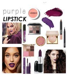 """Purple Lipstick"" by ameliekaced on Polyvore featuring beauty, MAC Cosmetics, Bobbi Brown Cosmetics, NARS Cosmetics, LORAC, Stila, Urban Decay, tarte and Milani"