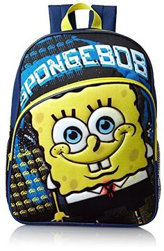 Nickelodeon Spongebob Squarepants Backpack (Black) Nickelodeon http://www.amazon.com/dp/B00LOYHO6O/ref=cm_sw_r_pi_dp_WGo3tb03WBKFE95T