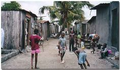 Aboisso slums Slums, Ivory Coast, Ghana, Africa, Street View, Cards, Map, Playing Cards, Afro