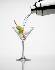 Shaken Martini (James Bond recipe)  3 measures of Gordon's gin   1 measure of vodka   1/2 measure of Kina Lillet  Shake it very well until it's ice-cold   Add a large thin slice of lemon-peel.