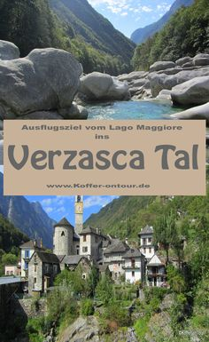 Verzasca Tal - die besten Tipps für Deinen Ausflug vom Lago Maggiore. Schau mal rein! Turin, Switzerland, Attraction, Traveling By Yourself, Travel Destinations, Road Trip, Travelogue, Vacation, Mansions