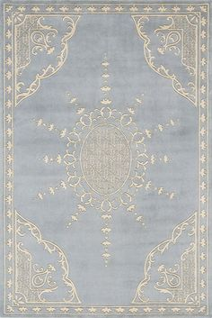 Rectangular Ice Blue Rug By Momeni Harmony