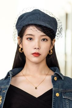 From Audrey Hepburn looks, to Chanel leather coats, to Denim ensembles, you will surely love IU's killer styles in spite of her devilish attitude in Hotel del Luna. Shop the entire look here Audrey Hepburn, Korean Girl, Asian Girl, Luna Fashion, Bobby Singer, K Pop, Chanel, Korean Actresses, Celebs