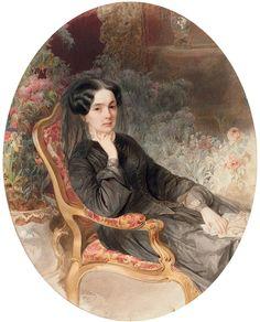 Vladimir Ivanovich Hau (1816-1895), Portrait of Countess Sophia Andreevna Shuvalov (1829- 1912)