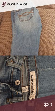 Abercrombie girls jeans Girls Abercrombie jeans. Wore very little. Super cute on! Abercrombie & Fitch Bottoms Jeans
