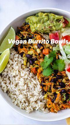 Tasty Vegetarian Recipes, Vegan Dinner Recipes, Veggie Recipes, Whole Food Recipes, Diet Recipes, Cooking Recipes, Healthy Recipes, Easy Veggie Meals, Salad Recipes Vegan
