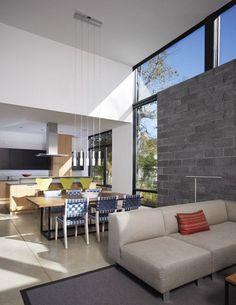 bay view homes natural modern private courtyard 4 Casa Moderna con vista a la bahía y patio privado