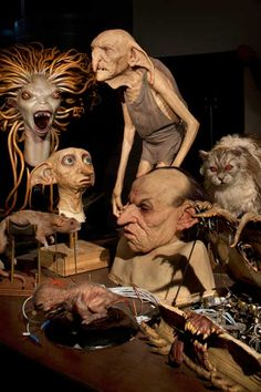 The making of Harry Potter Dobby, Creature and other um...well creatures!