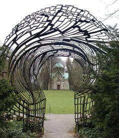 "...""das schicksal / destiny""..gate..circa 1905...entrance to the friedhof ohlsdorf cemetery....hamburg..germany...hugo lederer...german sculptor..designer..maker...1871-1940… via John Cannell"
