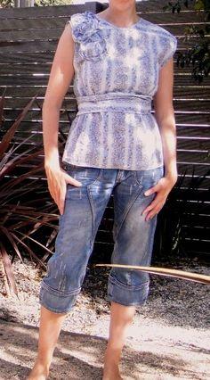 Recycled Fashion: Paisley Shirt Refashion