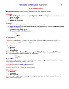 Peripheral Nerve Injuries Study Guide page 25