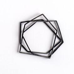 Geometric Bangle Set \ FORMA