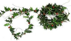 Decorative Artificial Miniature Holly Berry and Leaf Garland Roping for Home Decor and Accenting ** Find out more about the great product at the image link.
