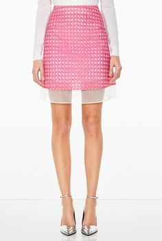 Woven Mini #Skirt by Richard Nicoll - Found on HeartThis.com @HeartThis | See item http://www.heartthis.com/product/214847059387154514/