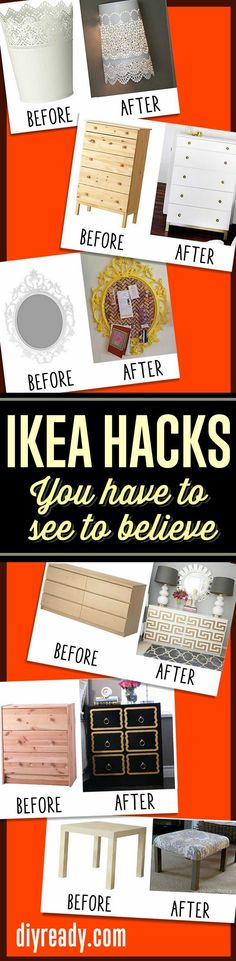 IKEA furniture hacks you have to see to believe! Cheap DIY Furniture Ideas  #diy #furniture #diyprojects #ikea http://diyready.com/15-amazing-ikea-hacks/