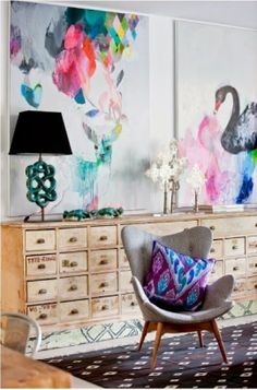 greige: interior design ideas and inspiration for the transitional home : Art: Statement pieces