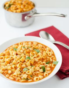 Ultimate healthy comfort food! Pasta Fagioli! Inexpensive, hearty and good source of protein!
