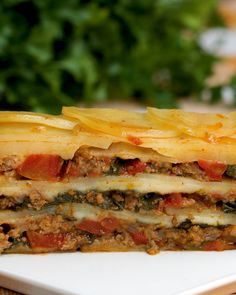 Estofado de papas gratinado - The Best For Dinner Healthy Recipes Loaf Recipes, Potluck Recipes, Dinner Recipes, Cooking Recipes, Healthy Recipes, Cooking Tv, Family Recipes, Potluck Meals, Cheesy Recipes