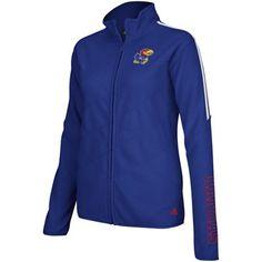 adidas Kansas Jayhawks Women's Microfleece Full Zip Jacket - Royal Blue