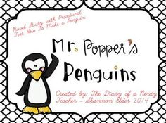 Mr. Popper's Penguins Novel Study Bundle!
