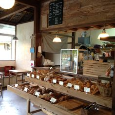Healthy snacks on the go for adults recipes for a day 2017 Japanese Coffee Shop, Japanese Bakery, Rustic Coffee Shop, Cafe Japan, Bakery Interior, Bread Shop, Cafe Concept, Bakery Display, Healthy Snacks