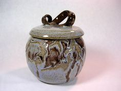 Ceramic jar with lid kitchen canister by WillowTreePottery on Etsy