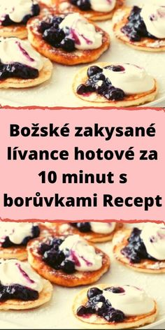 Sweet Desserts, Sweet Recipes, Good Food, Yummy Food, Czech Recipes, Easy Homemade Recipes, Food Design, Baking Recipes, Food And Drink