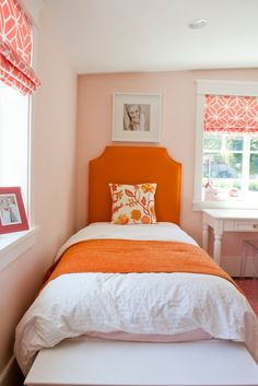 Caitlin Creer Interiors: Spring Lane Pink and Orange Girls Room
