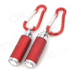 Color: Dark red + Silver; Material: Aluminum alloy; Quantity: 2; Style: Zoom-to-throw; Emitter Number: 1; LED Color: White; Battery: 3 x LR44 (included); Functions: Zoom-to-throw, ideal for emergency, outdoor use; Other Feature: Bulb life up to 1,000 hours; Continuous lighting 40 minutes; Suitable for daily carrying, camping, walking and night cycling; Packing List: 2 x Flashlights; 6 x LR44 batteries; 2 x Quick release buckles; http://j.mp/1ljGUTy