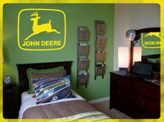 "JOHN DEERE Logo wall art. DIY Removable Vinyl Decal 24"" x 24"" on Etsy, $19.95"