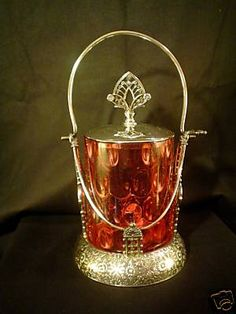Beautiful Victorian Cranberry Glass Pickle Castor Look | eBay