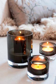 Skyline from Magnor Glassverk. Designed by Halvor Bakke. Lantern Candle Holders, Candle Lanterns, Candle Jars, Coffe Table, A Table, Home Interior Design, Interior Decorating, Candle Accessories, Home Candles