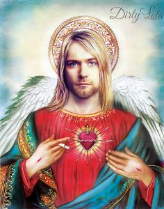 Come as you are.. Angelic Kurt Cobain Memorial artwork honoring our beloved member of Nirvana. Kurt was a voice of a generation, a pioneer of music,