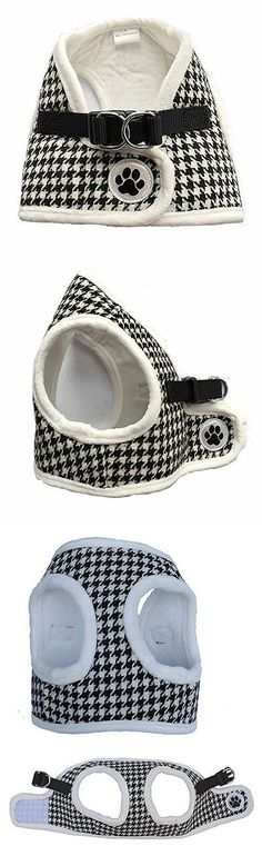 Harnesses 66783: Black/White Houndstooth Fleece Padded Soft Dog Harness Safe Harness Winter Pet -> BUY IT NOW ONLY: $37.04 on eBay!