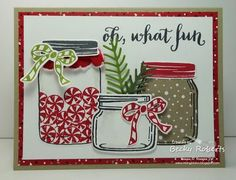 Sometimes I just squeal with delight when I'm sitting there all by myself creating! It is no surprise all the jar sets and framelits are my favorite but this one really made me squeal. Jars and Real