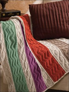 Pretty Pastels Lap Blanket - gorgeous, and much easier to work with being in strips, as well as easier to alter the size without having to work out stitch counts!
