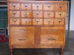 17 Drawer Library Card Catalog - Mint