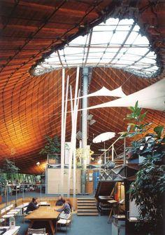Institute for Lightweight Structures, interior, 1967, University of Stuttgart in Vaihingen