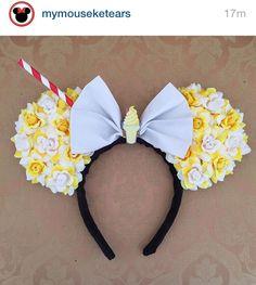 Mickey Mouse Ears ❤ Disney World's popcorn, icecream & straw inspired. Disney Diy, Diy Disney Ears, Disney Bows, Disney Crafts, Cute Disney, Disney Outfits, Disney Cruise, Disney Headbands, Ear Headbands